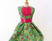 Minty Flower Dress Reserved for Jess