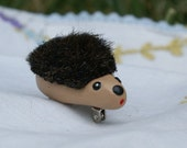 Hedgie the Furry Hedgehog Pin Brooch