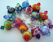 Delectably Charming Colorful Charm Bracelet