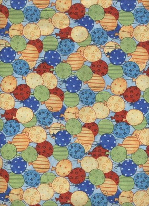 Wilmington Prints  / Clowning Around / 1and 5/8 yd / last cut