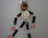 Skull Bead, Halloween style, Funky Mobile phone charm, one only, (SK014)