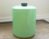 Mint Green Coffee Canister with Lid