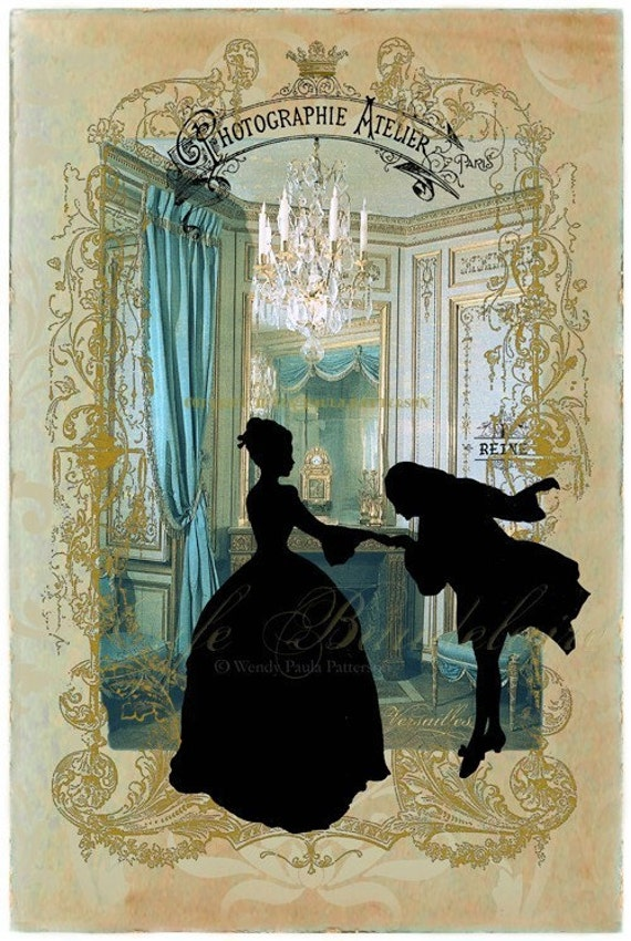 Chateau Versailles Marie Antoinette Art print Giclee Collage