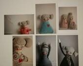 Dolls  -  set of 6 postcads  -  photo prints  -  art dolls