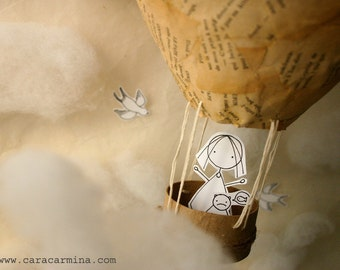 You and me up in the sky  - Photo print - Paper diorama - letter size