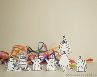 Happy Birthday  - Photo print - Paper diorama - letter size