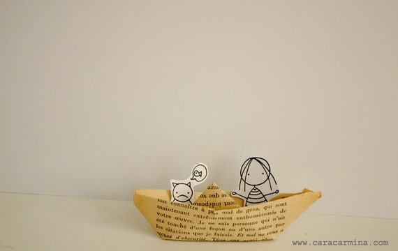 My Paper Boat  -  Photo print  -  Paper diorama - letter size