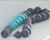 Turquoise and ash necklace