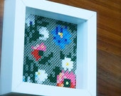 Hama beads flower picture