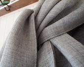 SALE Smoke grey heather wool gauze scarf - eco vintage fabric LAST ONE