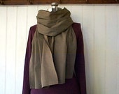 Selvedge olive drab utility scarf  - eco vintage fabric - extra long