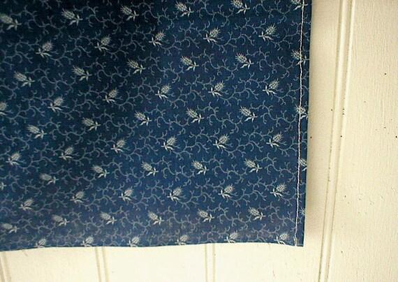 Selvedge indigo print bandana, scarf - eco vintage fabric in the 19th century manner - last one