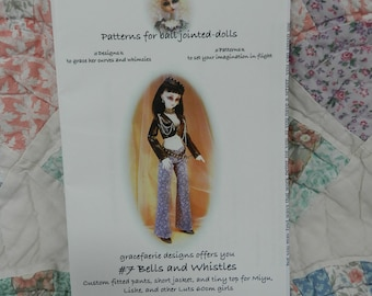 Gracefaerie Designs Pattern for BJD Ball Jointed Dolls No 7 Bells and Whistles