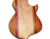 Handmade Wood Carved Top Guitar Body - Can be Made for You in Various Shapes - Reduced Price