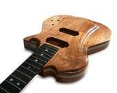 Handmade Electric Wood Guitar - Black Walnut, Ash, Mahogany