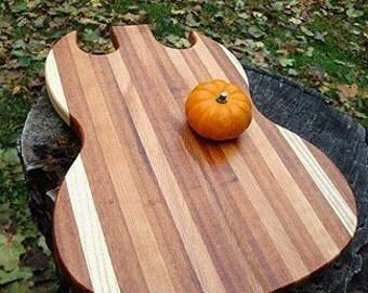 Guitar Cutting Board - Custom, FREE ENGRAVING, Musician, Groomsmen, Rocker Gift