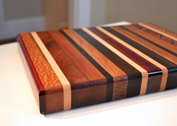 Cutting Board, Wood, Engraved, Personalized, Custom, Wedding Gift, Housewarming, Anniversary, Chopping Block, Medium, The Artisan, Bloodwood