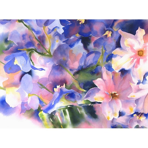 Original Watercolor Painting - Floral Still Life - Watercolor Flowers - Alisa Wilcher