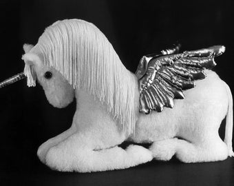 Sewing Pattern Make a Mother Pegasus Unicorn or Horse Soft Sculpture Design from Fantasy Creations