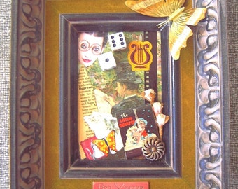 aLtErEd-aRt art painting UPcycled decoupage collage Paris scene