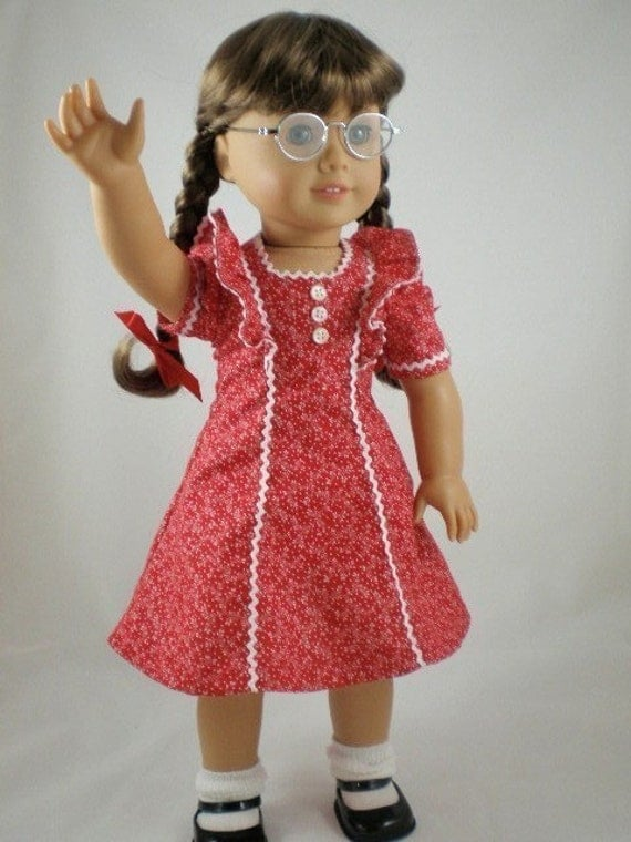 1940s school dress for molly american girl doll red. Black Bedroom Furniture Sets. Home Design Ideas