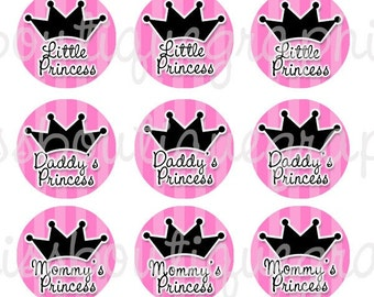 4x6 - LITTLE PRINCESS SAYINGS - Instant Download -  One Inch Bottle Cap Digital Collage Sheet  - ( No 310)