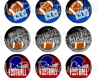 4x6 - BOYS FOOTBALL  - Instant Download -  Football Rocks -  One Inch Bottlecap Digital Graphic Collage Image Sheet - No.386