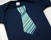 Baby Boy Clothes // Neck Tie Bodysuit // Size 12-18 Months //  Necktie Clothing Boys