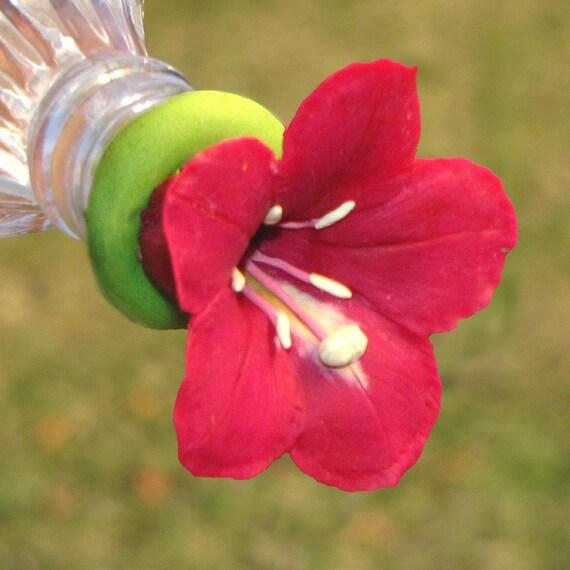 Flower Hummingbird Feeder Hummingbird Feeder--red