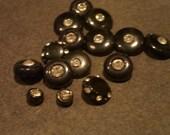 15 Vintage Rhinestone Buttons in Plastic   Good Goodies