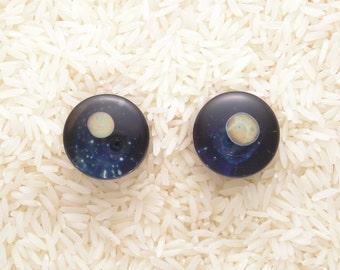 20mm  DF Lampworked Borosilicate Glass Planet Plugs