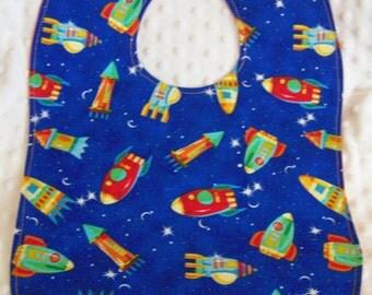 FREE SHIPPING Large Space Ship Toddler Baby Bib