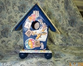 Vintage ABCs Book Birdhouse
