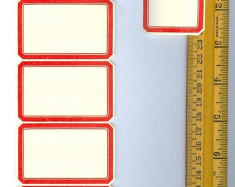 Retro Red labels Perfect for Journaling, Art Cards, Project Life cards