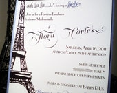 Parisian shower invitations Paris french bridal eiffel tower bridal