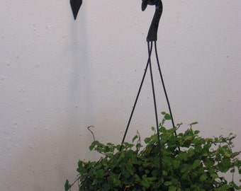12 Inch Plant Hanger Double Curl End made by PA blacksmith Arkiron