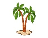 Instant Download - Palm tree fill digital machine embroidery 5 sizes