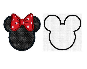 INSTANT Download - Mouse Ears applique, digital machine embroidery design
