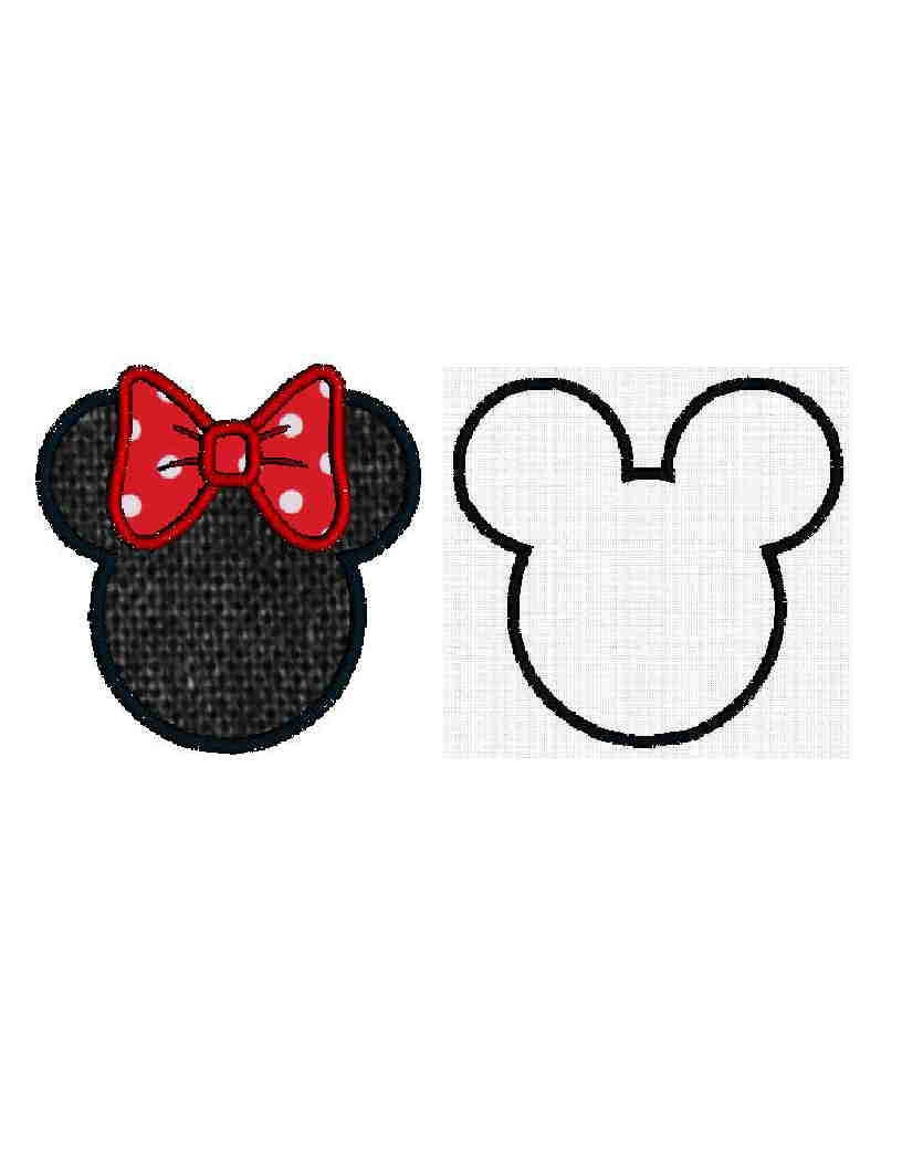 mickey mouse ears applique design