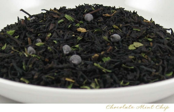 Chocolate Mint Chip -- Black Loose Leaf Tea -- 2oz. bag