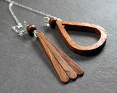 Tribal Jewelry : Longer length wood lariat