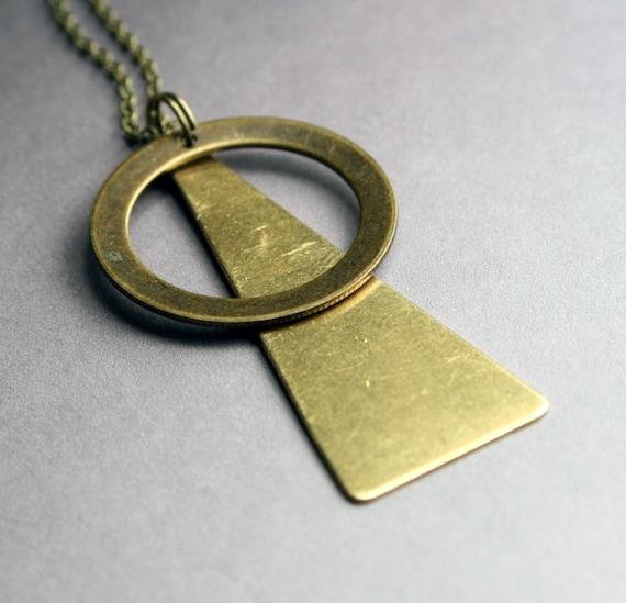Geometric Pendant Necklace - Minimalist Insignia Style