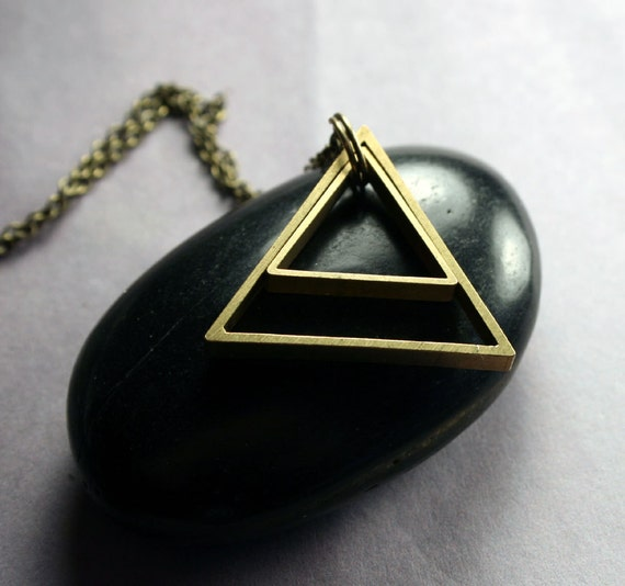 Triangle Necklace - Geometric Triangle Pendant Necklace