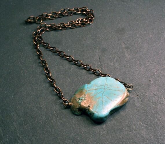 Southwestern Jewelry : Chunky Stone Necklace - Magnesite