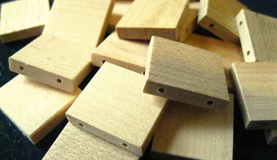 Double-Drilled Blank Scrabble Tiles (lot of 20) Unmarked