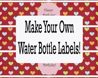 Gimp water bottle label templates and tutorial for Water bottle labels template avery