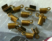 100pcs antique brass finish cord end clasps 9.5mm (0351)