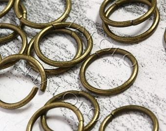 100pcs antique bronze finish jump rings 12mm (0709)