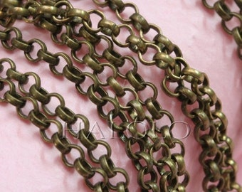 10 feet antique bronze finish rollo chain 4mm CH92