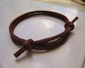 Rich Brown  Leather Wrap Bracelet Cuff